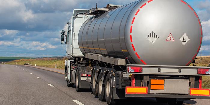Vehículo de trasnporte de mercancías peligrosas