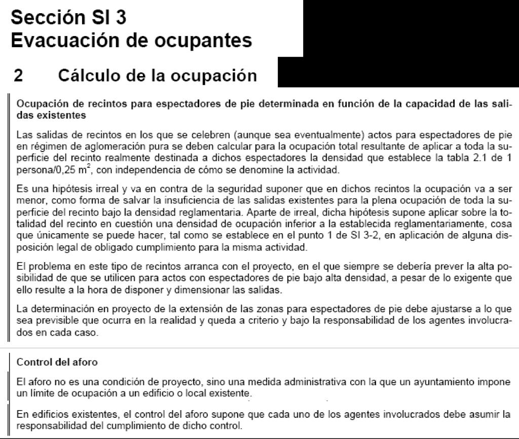 Cálculo de ocupación