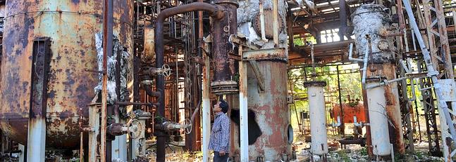 Actualmente la planta industrial se encuentra abandonada